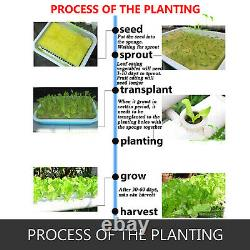 Hydroponic Grow Kit 12 Pipes 3-Layer 108 Plant Sites Water Culture Garden System