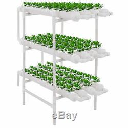 Hydroponic Grow Kit 12 Pipes 3 Layers 108 Plant Sites Food Grade PVC Celery