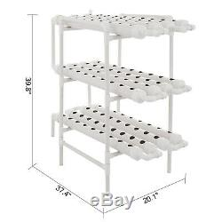 Hydroponic Grow Kit 12 Pipes 3 Layers 108 Plant Sites Melons Hybrid Nutritious