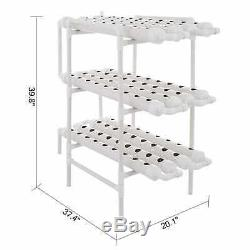 Hydroponic Grow Kit 12 Pipes 3 Layers 108 Plant Sites System Hybrid Nutritious
