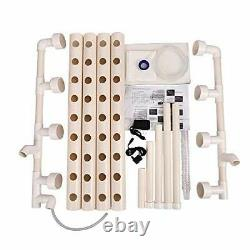 Hydroponic Grow Kit 36 Plant Sites System PVC Water Culture Garden Plant System