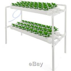 Hydroponic Grow Kit 6 Pipes 2 Layers 54 Plant Sites PVC Vegetables Cabbage