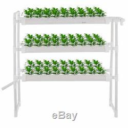 Hydroponic Grow Kit 6 Pipes 3 Layers 54 Plant Sites Vegetables Garden System