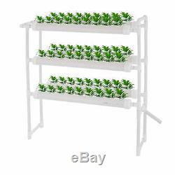 Hydroponic Grow Kit 6 Pipes 3 Layers 54 Plant Sites Vegetative Water System