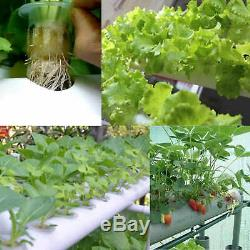 Hydroponic Grow Kit 8 Pipes 4 Layers 72 Plant Sites Culture Vegetables PVC