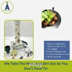 Hydroponic Grow System kit Vertical Tower 4 net pots + air pumpwithstone