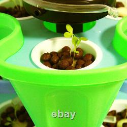 Hydroponic Planter System Organic 18 Plant Kit with Growing Results