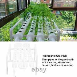 Hydroponic Site Grow Kit 36 Planting Sites PVC Pipes Vegetable Garden System