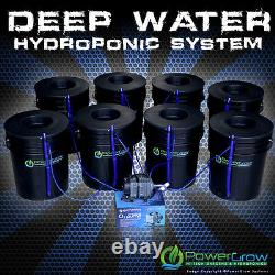 Hydroponic System Deep Water Culture DWC 8 Growing Sites with6 Lids