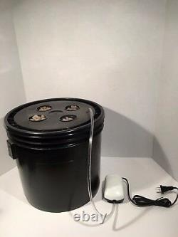 Hydroponic System LED Combo Complete Grow System 4 Site DWC Hydroponic Kit
