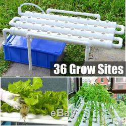 Hydroponic System Pots Grow Kit Equipment Garden Vegetables Planting Box 36 Site
