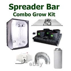 Hydroponic System Spreader Bar Growing Kit 8 Bar Samsung Ghost Fan Filter Combo