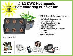 Hydroponic System TopFeed BUBBLER Plant Growing kit # 12 6-site H2OToGro