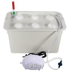 Hydroponic System Water Culture Indoor Garden Nursery Pot Seedling Grow Kit Box