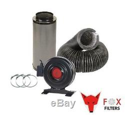 Hydroponics Extraction System Fox RVK Fan Combi Ducting Filter Kit Grow Tent