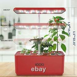 Hydroponics Growing System, Indoor Herb Garden Starter Kit with LED Grow