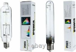 IPower 600W Grow Light System 6 Cool Tube Reflector XL Wing HPS & MH Bulbs