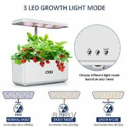 Indoor Herb Garden, Hydroponics Growing System with LED Grow Light, Smart