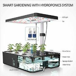 Indoor Herb Garden Kit, 12 Pods Hydroponics Growing System With LED Grow
