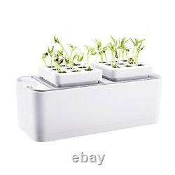 Indoor Hydroponic Growing System Tabletop Garden Grown Light with Planter US