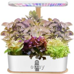 Indoor Hydroponic Herb Garden, Hydroponics Growing System with LED Grow Light, S