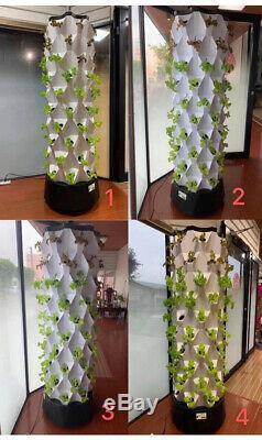 Indoor Plant Vertical Tower Growing Systems Easy Planting Hydroponic