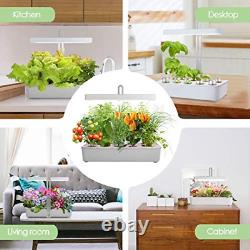 LED Hydroponic Grow System Kit Indoor Herb Garden, 10-Pod GrowLED Hydroponics Pl