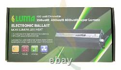 LUMAGRO 600W Dimmable Electronic Digital Ballast HPS MH Grow System
