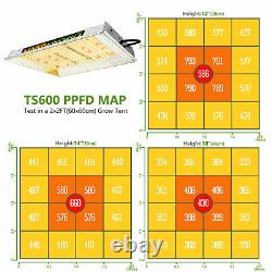 Mars Hydro TS 600W Led Grow Light + 2'x2' Indoor Tent Kits Carbon Filter System