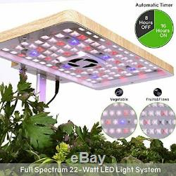 Moistenland Hydroponics Growing System Indoor Herb Garden Starter Kit withLED Grow