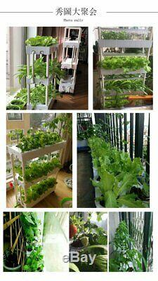 Movable Complete System vertical hydroponics system with grow lights