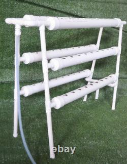 NEW110V Ladder Double Side 6 Pipe 54 Plant Site Hydroponic Grow Kit Canda Stock