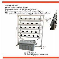 NFT Greenhouse hydroponic 100100mm 5 Channel Vertical Growing System
