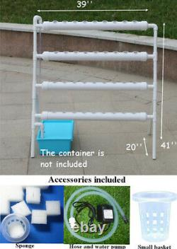New 36 Holes Balcony Garden Planting System Hydroponic Site Grow Kit with Pump