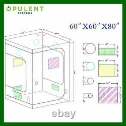 OPULENT SYSTEMS 60X60X80 Hydroponic Mylar Water Resister Grow Tent Reflective
