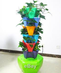 Organic Hydroponic 18 Planting Small Tower Planting Kit Great Growing