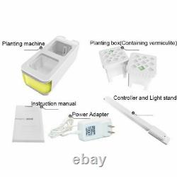 Plant Indoor Gardening Planter Box Kit Herb Hydroponic Growing Pot System