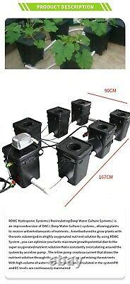 Rdwc 7 Pot 140l System Hydroponic Growing Current Culture Kit Free Shipping