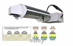 Sonic Hydro 1000W Dimmable DE Lamp Grow Light withadjustable Reflector 240V-Black