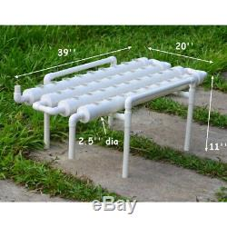 TECHTONGDA 110V Hydroponic Plant Site Grow Kit System 1 Layer 4 Pipes 36 Plant