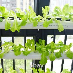 TECHTONGDA Hydroponic 54 Plant Site Grow System Kit Wall-mounted 6 Pipes