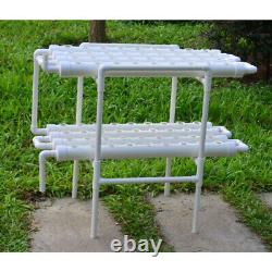 TECHTONGDA Hydroponic 72 Plant Site Grow Kit 2 Layers 8 Pipes 110V Water Pump