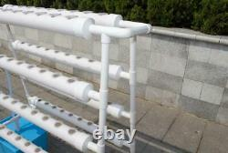 TECHTONGDA Hydroponic Grow Kit System 8 Pipes 70 Plant Indoor Vegetable Planting