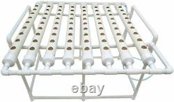 TECHTONGDA Hydroponic Grow Kit System 8 Pipes 72 Plant Indoor Vegetable Planting