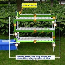 TECHTONGDA Hydroponic Grow Kit System 90 Plant Indoor Vegetable Planting