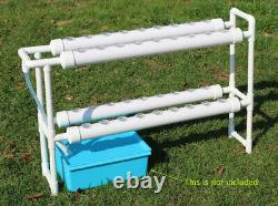 TECHTONGDA Hydroponic System 4 Pipes 36 Holes Plant Site Grow Kit
