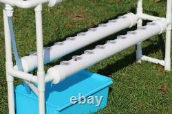 TECHTONGDA Indoor or Outdoor Hydroponic System 4 Pipes 36 Plant Site Grow Kit
