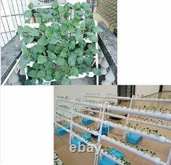 TECHTONGDA Vertical Hydroponic 36 Plant Site Grow System Kit 4 Pipes