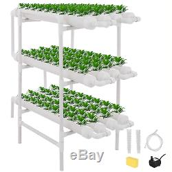 TOPQSC 108 Holes 12 Pipes Soilless Culture Hydroponics Growing System, No Soil