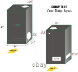 TopoLite Grow Tent Room Complete Kit Hydroponic Growing System LED 300With 600With +